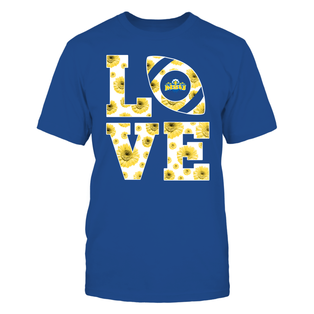 Morehead State Eagles - Stacked - Love Football Daisy Pattern - Team Front picture