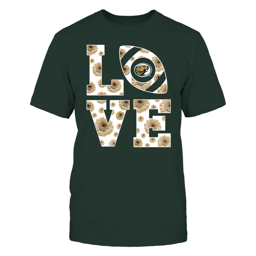 Bemidji State Beavers - Stacked - Love Football Daisy Pattern - Team Front picture