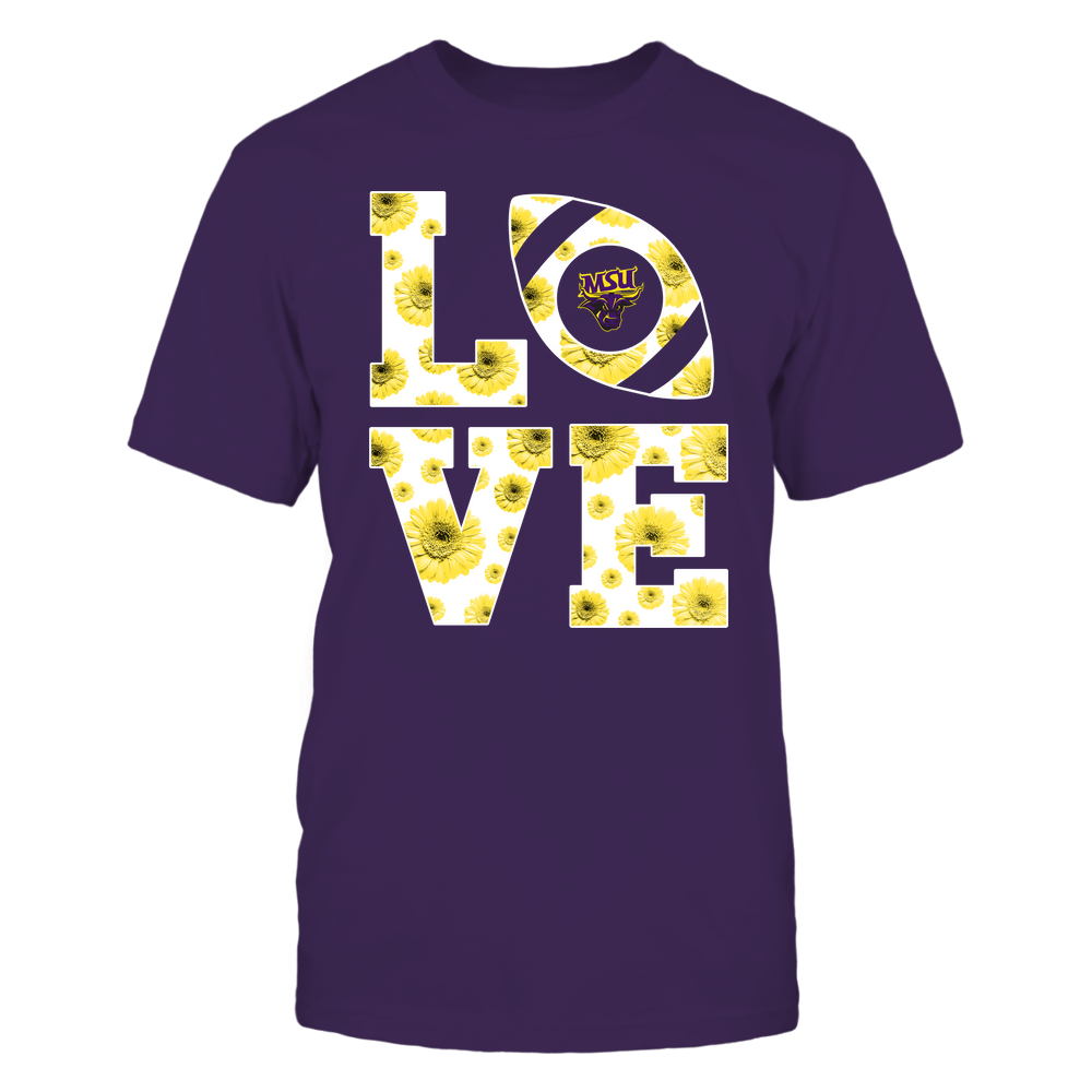 Minnesota State Mavericks - Stacked - Love Football Daisy Pattern - Team Front picture