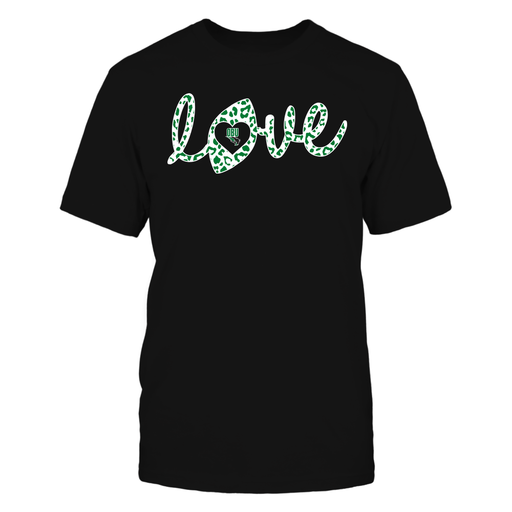 Oklahoma Baptist Bison - Football - Love Lowercase - Leopard Pattern Front picture