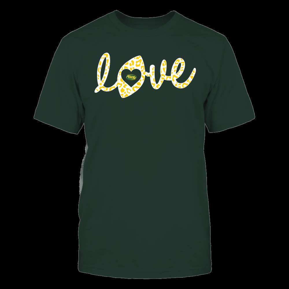 Arkansas Tech Golden Suns - Football - Love Lowercase - Leopard Pattern Front picture