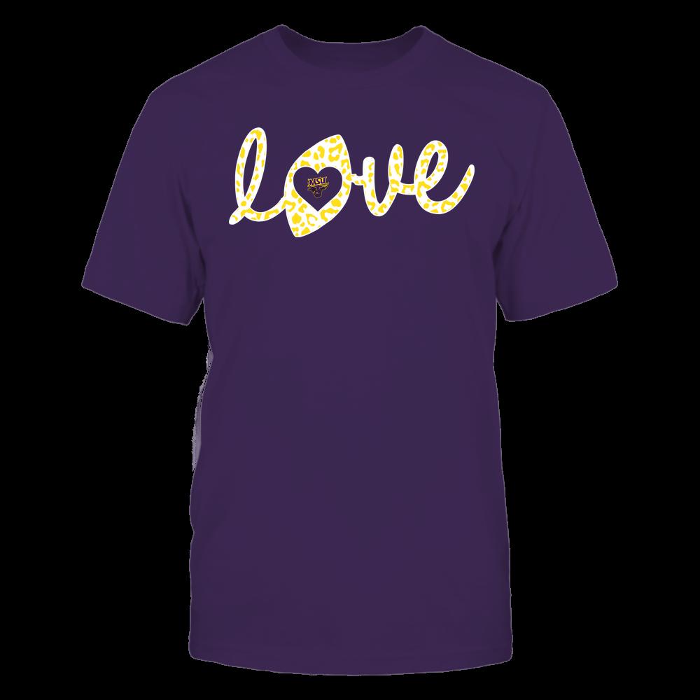 Minnesota State Mavericks - Football - Love Lowercase - Leopard Pattern Front picture