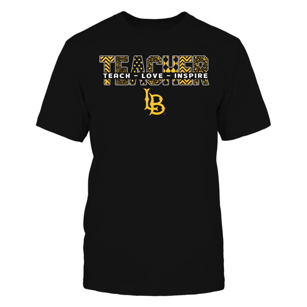 Long Beach State 49ers - Teacher - Teach Love Inspire Patterned - Cut Through Front picture