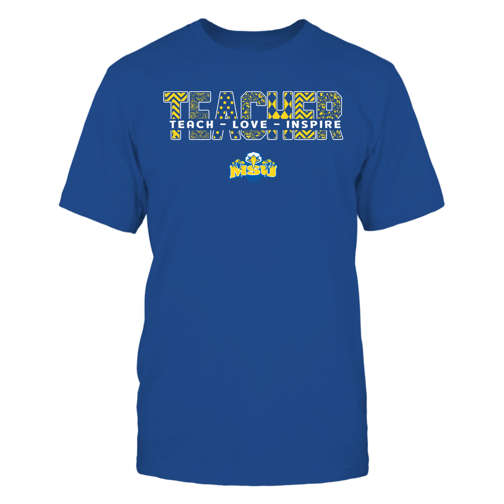 Morehead State Eagles - Teacher - Teach Love Inspire Patterned - Cut Through Front picture