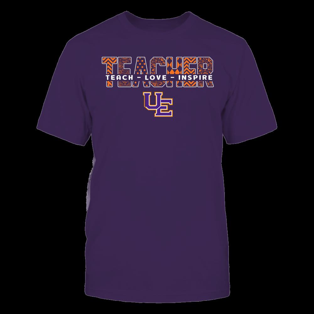 Evansville Purple Aces - Teacher - Teach Love Inspire Patterned - Cut Through Front picture