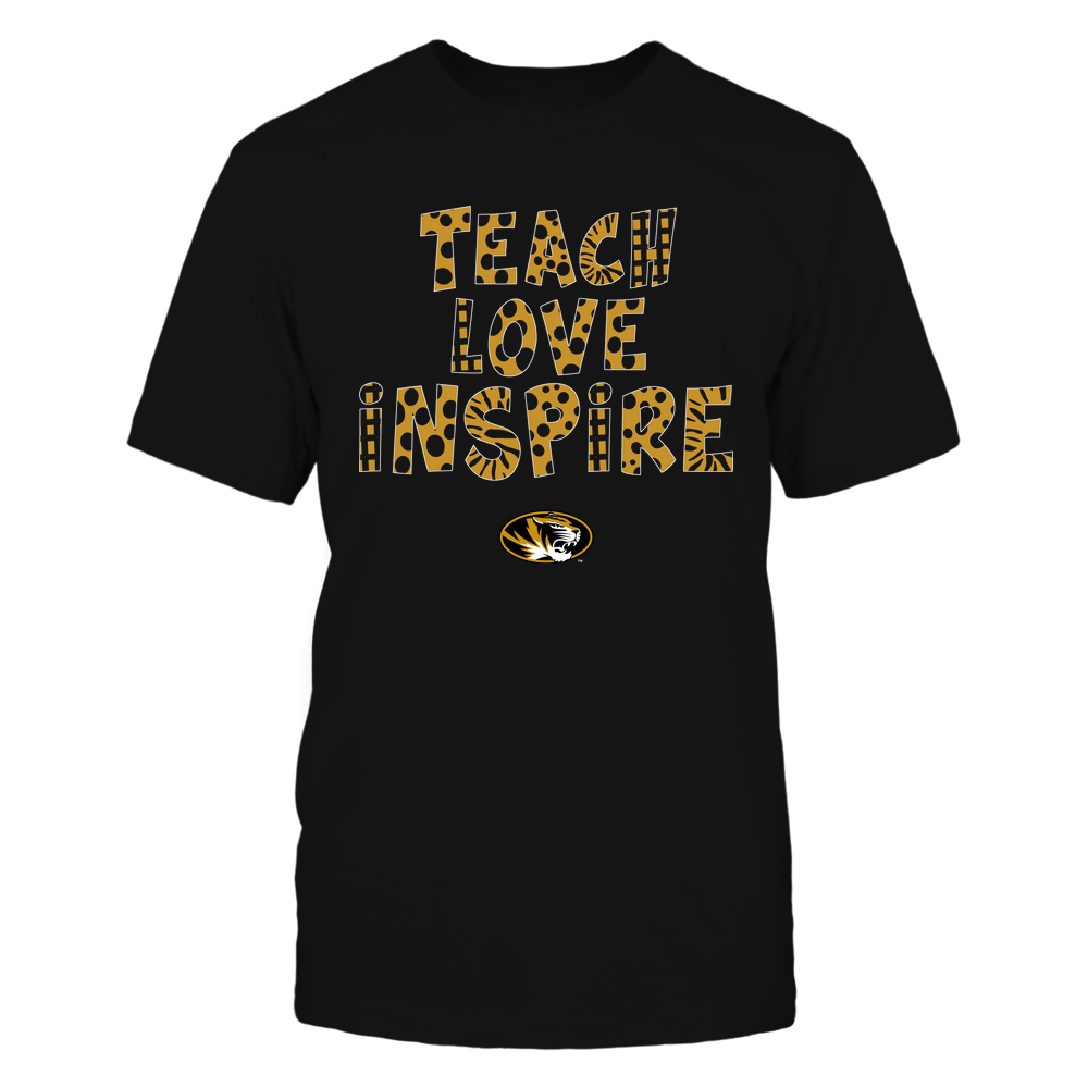 Mizzou Tigers - Teacher - Teach Love Inspire - Doodle Pattern Front picture