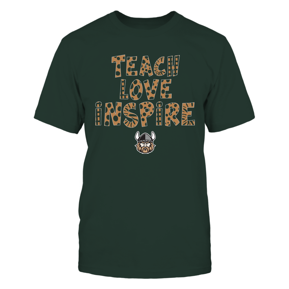 Cleveland State Vikings - Teacher - Teach Love Inspire - Doodle Pattern Front picture