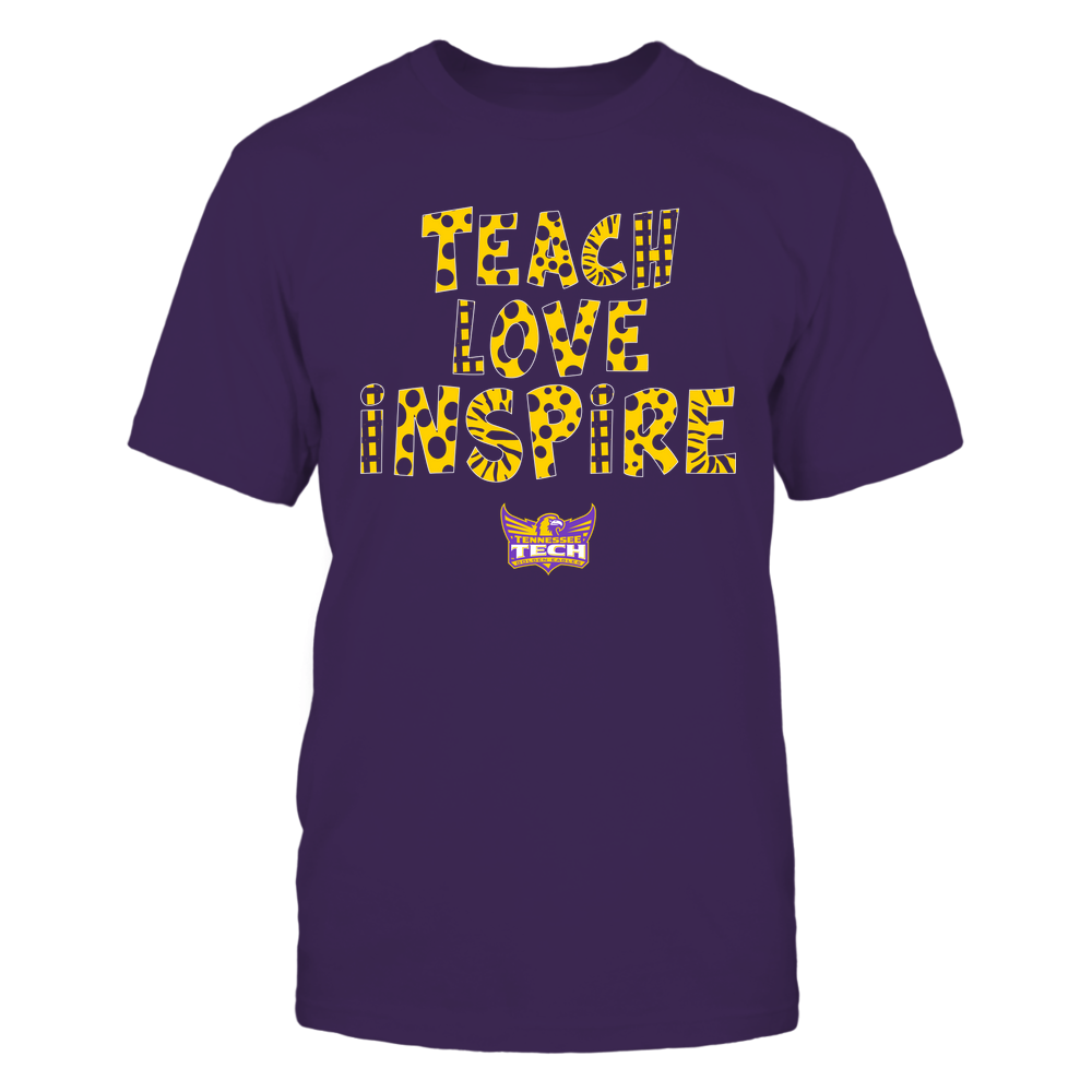 Tennessee Tech Golden Eagles - Teacher - Teach Love Inspire - Doodle Pattern Front picture