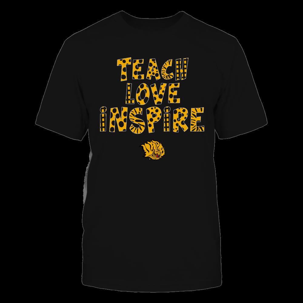 Arkansas Pine Bluff Golden Lions - Teacher - Teach Love Inspire - Doodle Pattern Front picture