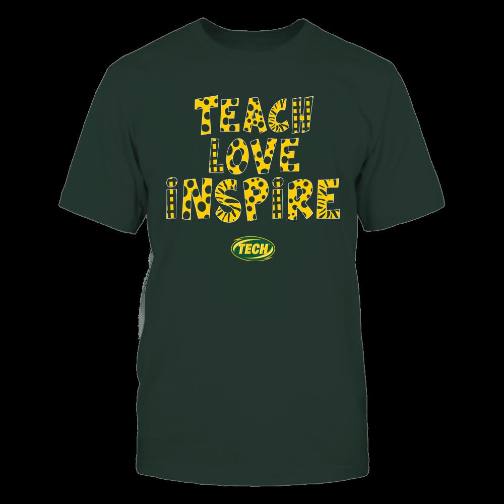 Arkansas Tech Golden Suns - Teacher - Teach Love Inspire - Doodle Pattern Front picture