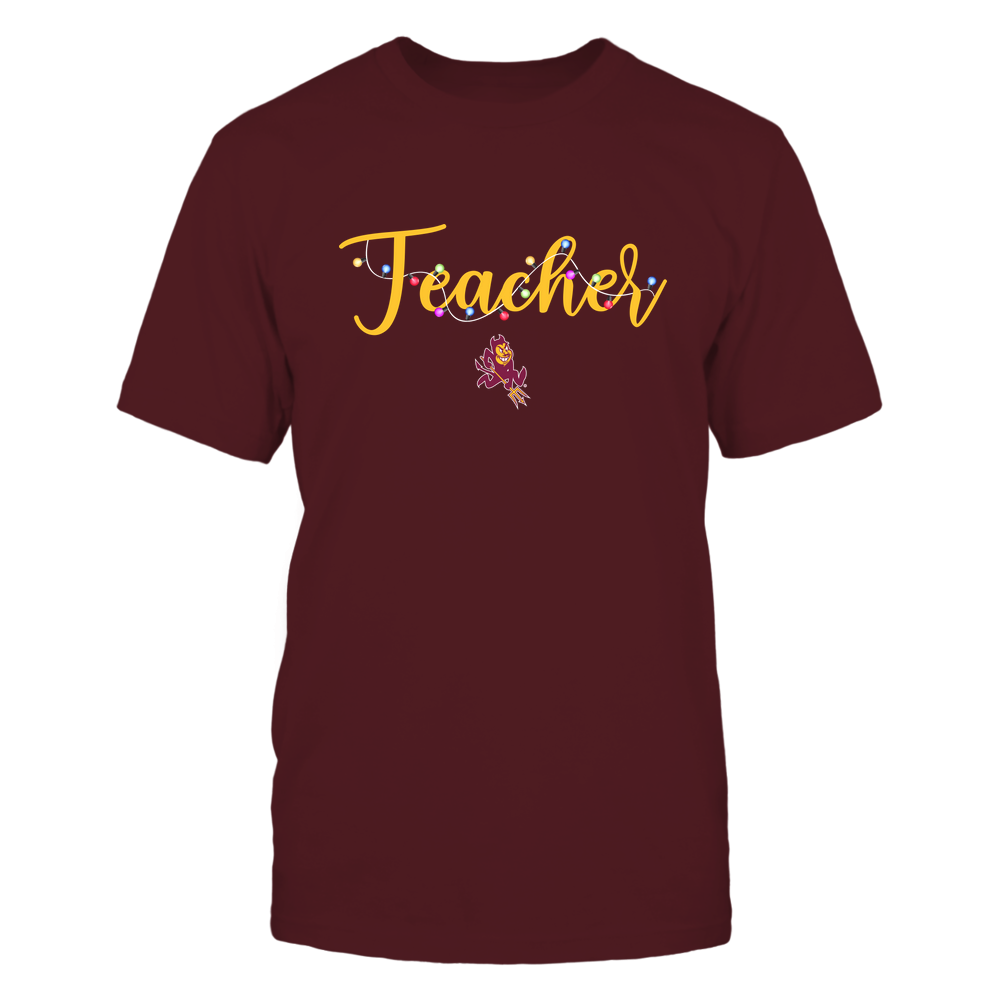 Arizona State Sun Devils - Xmas - Teacher Christmas Light - IF78-IC78-DS29 Front picture