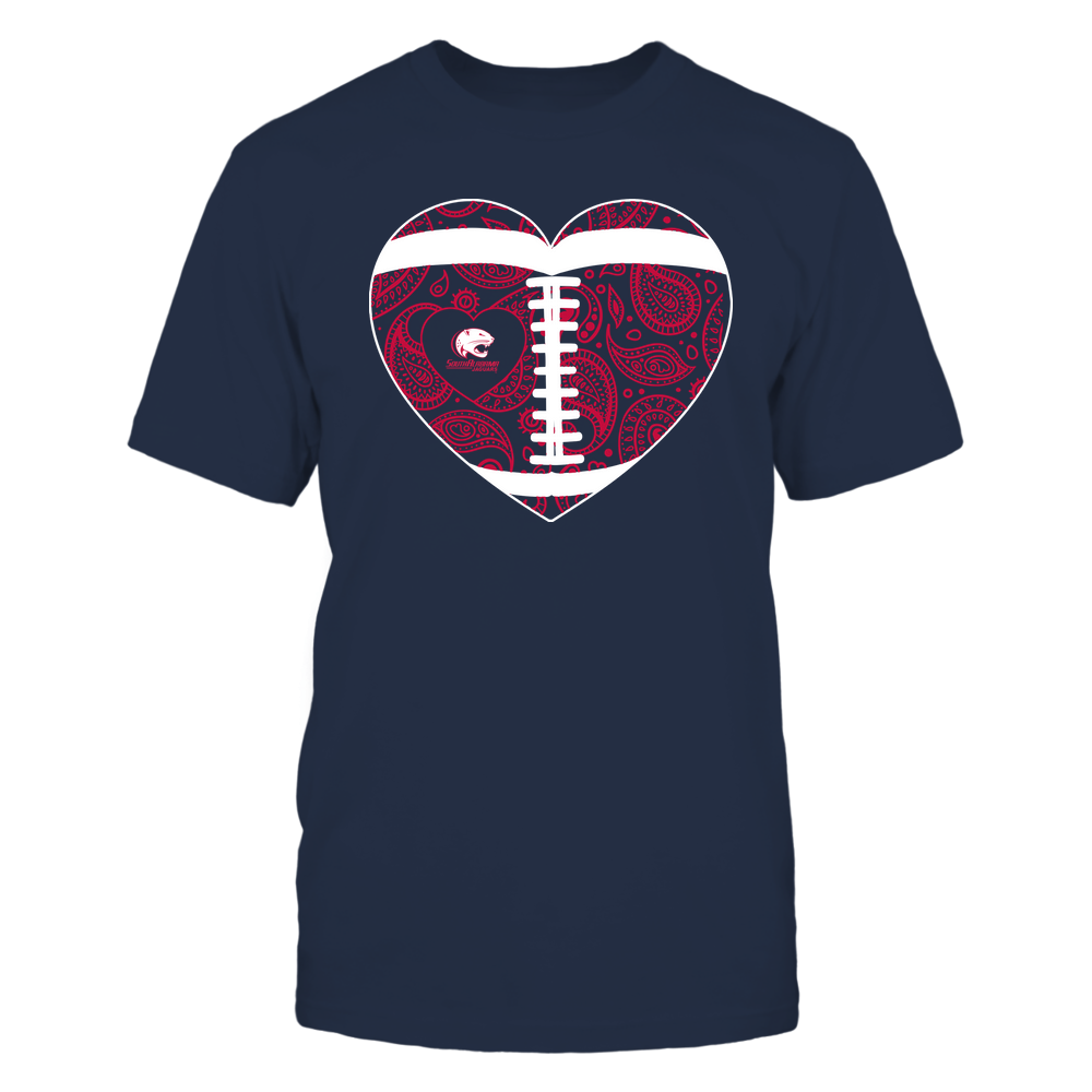 South Alabama Jaguars - Football Heart - Paisley Pattern - Team Front picture