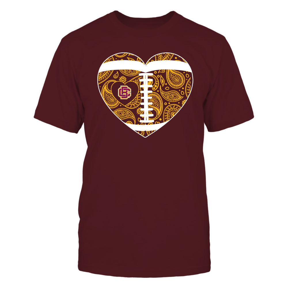 Bethune-Cookman Wildcats - Football Heart - Paisley Pattern - Team Front picture