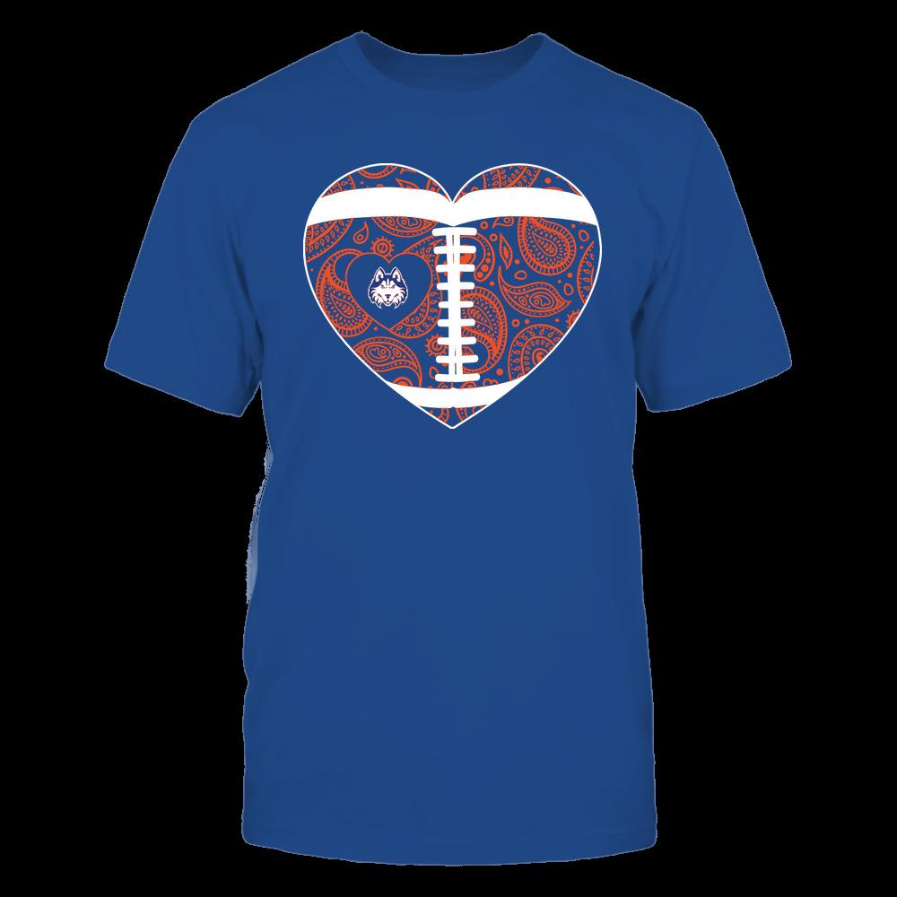 Houston Baptist Huskies - Football Heart - Paisley Pattern - Team Front picture