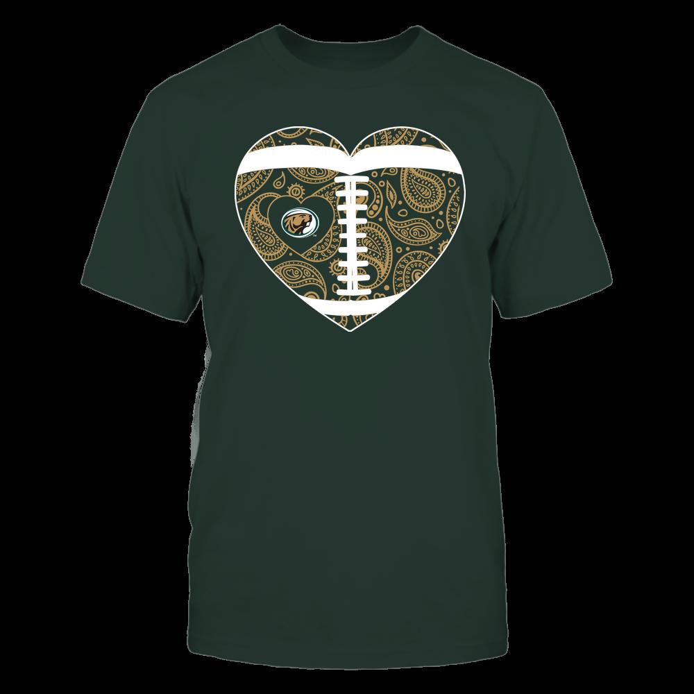 Bemidji State Beavers - Football Heart - Paisley Pattern - Team Front picture