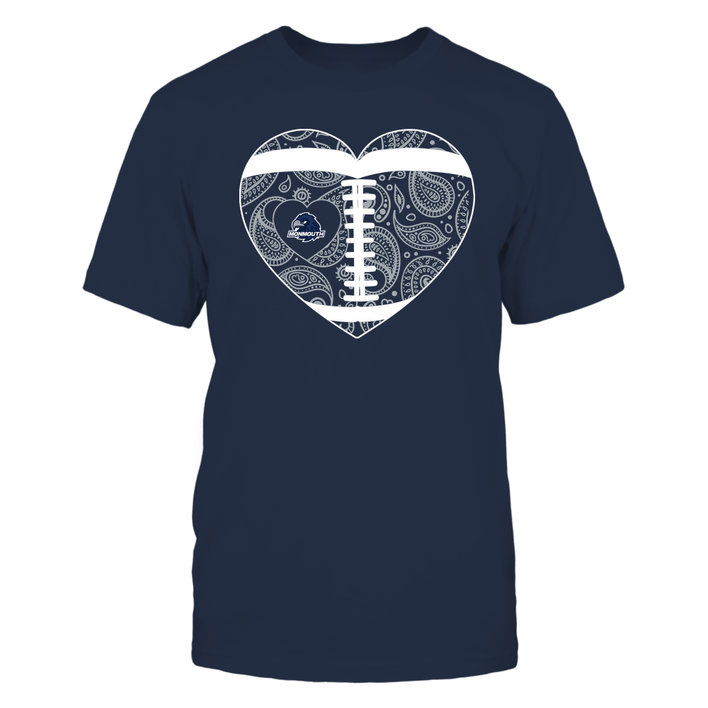 Monmouth Hawks - Football Heart - Paisley Pattern - Team Front picture