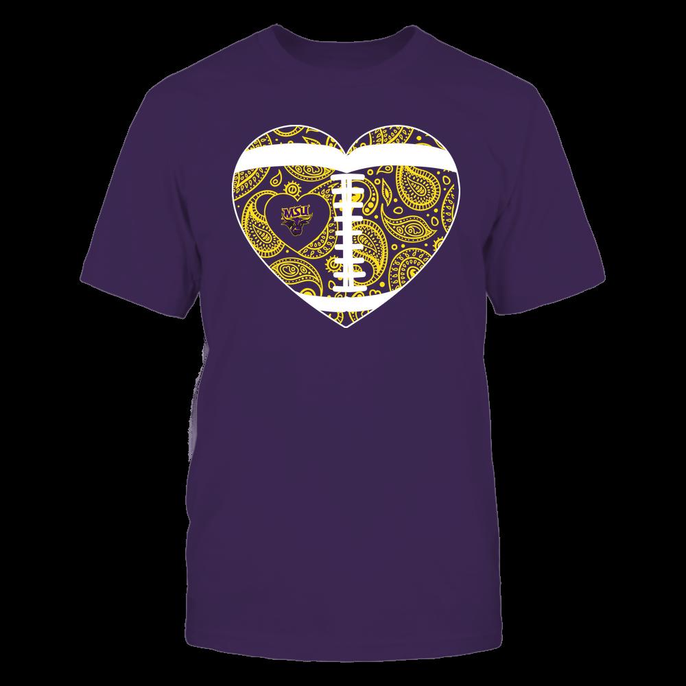 Minnesota State Mavericks - Football Heart - Paisley Pattern - Team Front picture