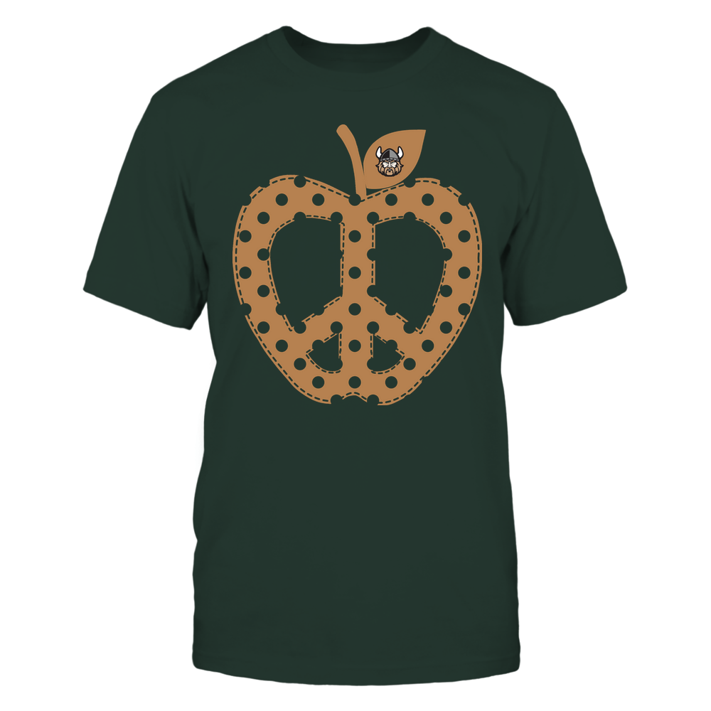 Cleveland State Vikings - Teacher - Teach Peace - Apple Peace Sign Front picture