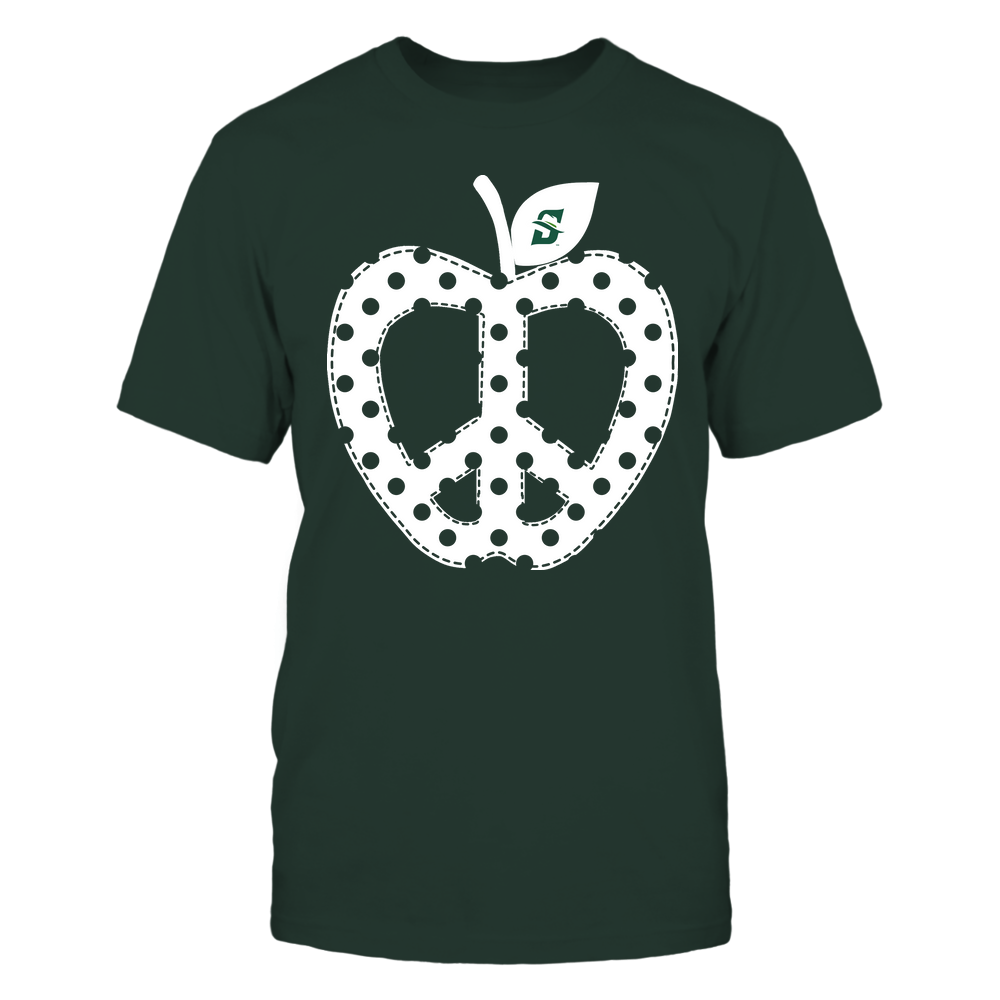 Stetson Hatters - Teacher - Teach Peace - Apple Peace Sign Front picture