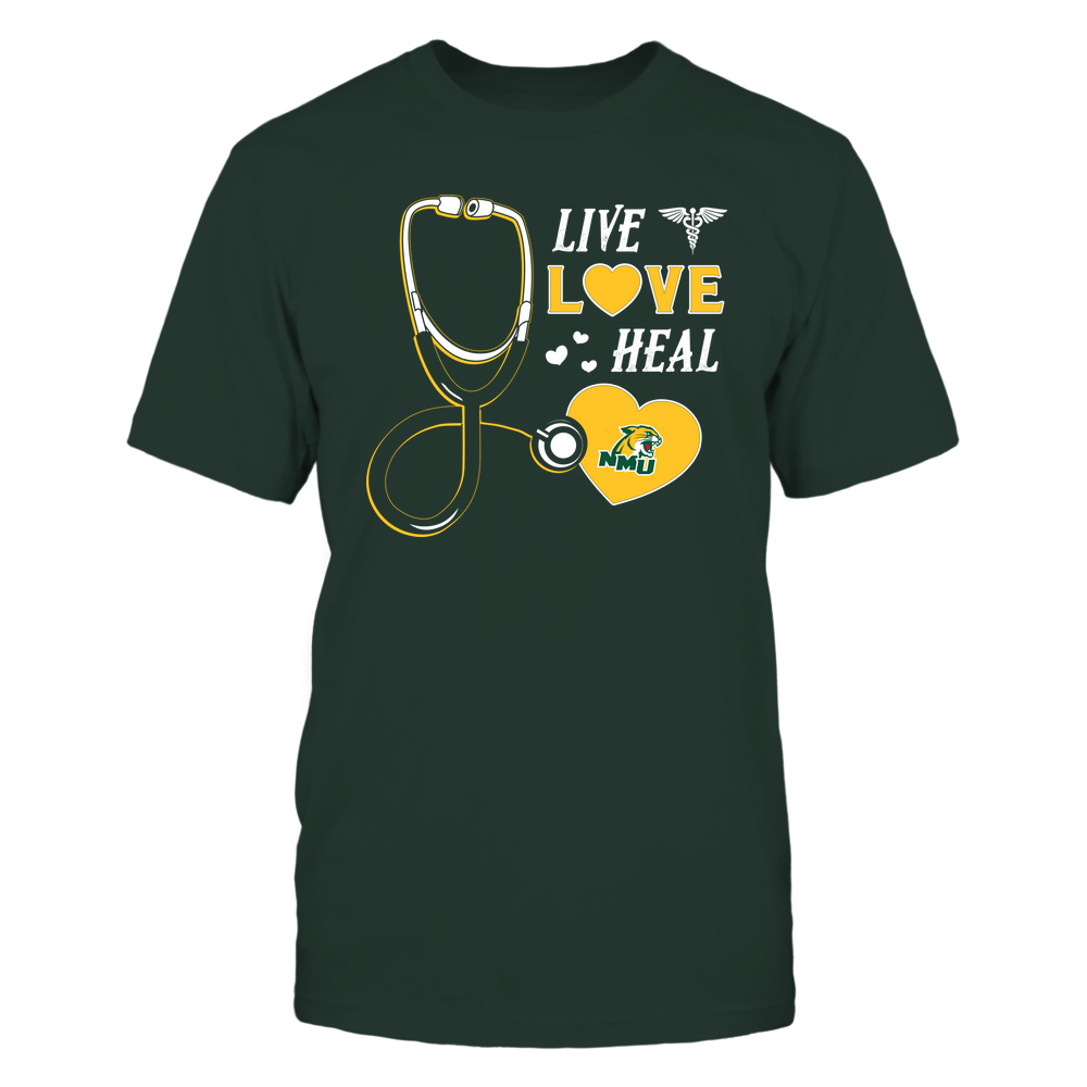 Northern Michigan Wildcats - Nurse - Live Love Heal - Team Front picture