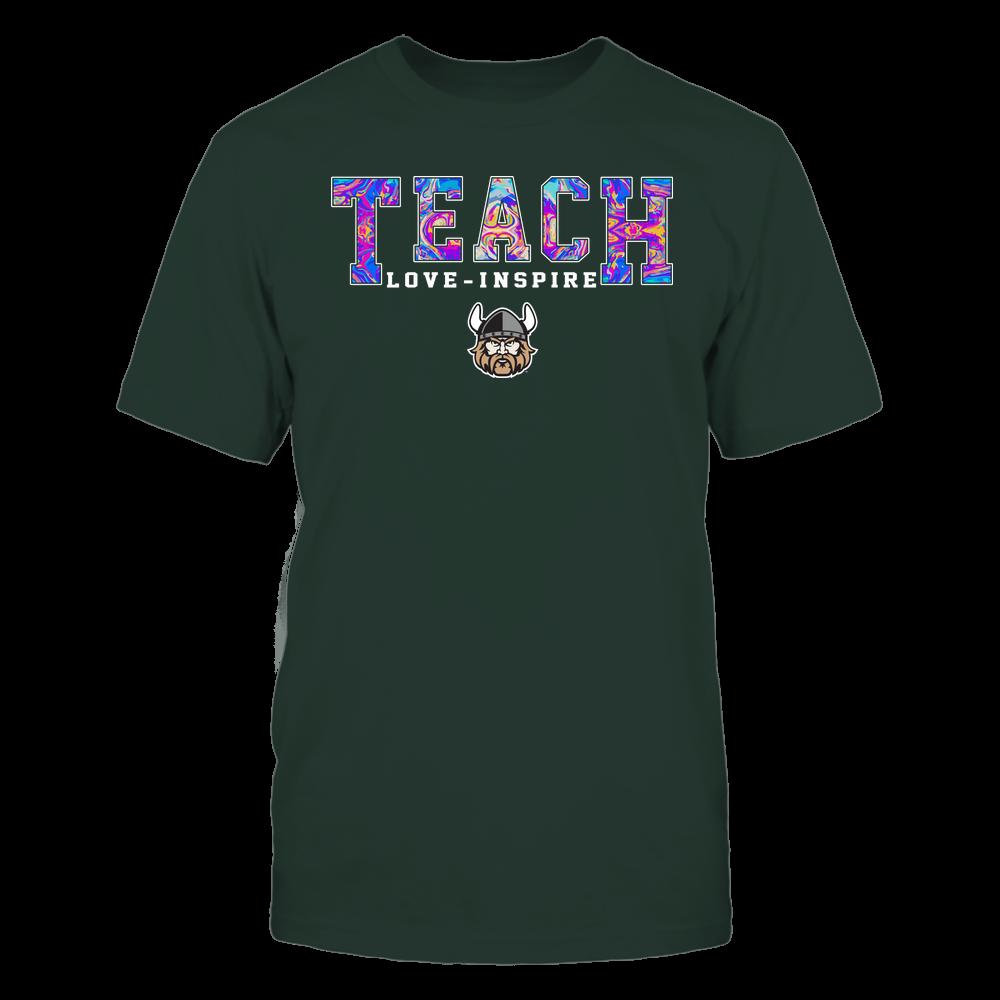 Cleveland State Vikings - Teacher - Teach Love Inspire - Rainbow Swirl - Team Front picture
