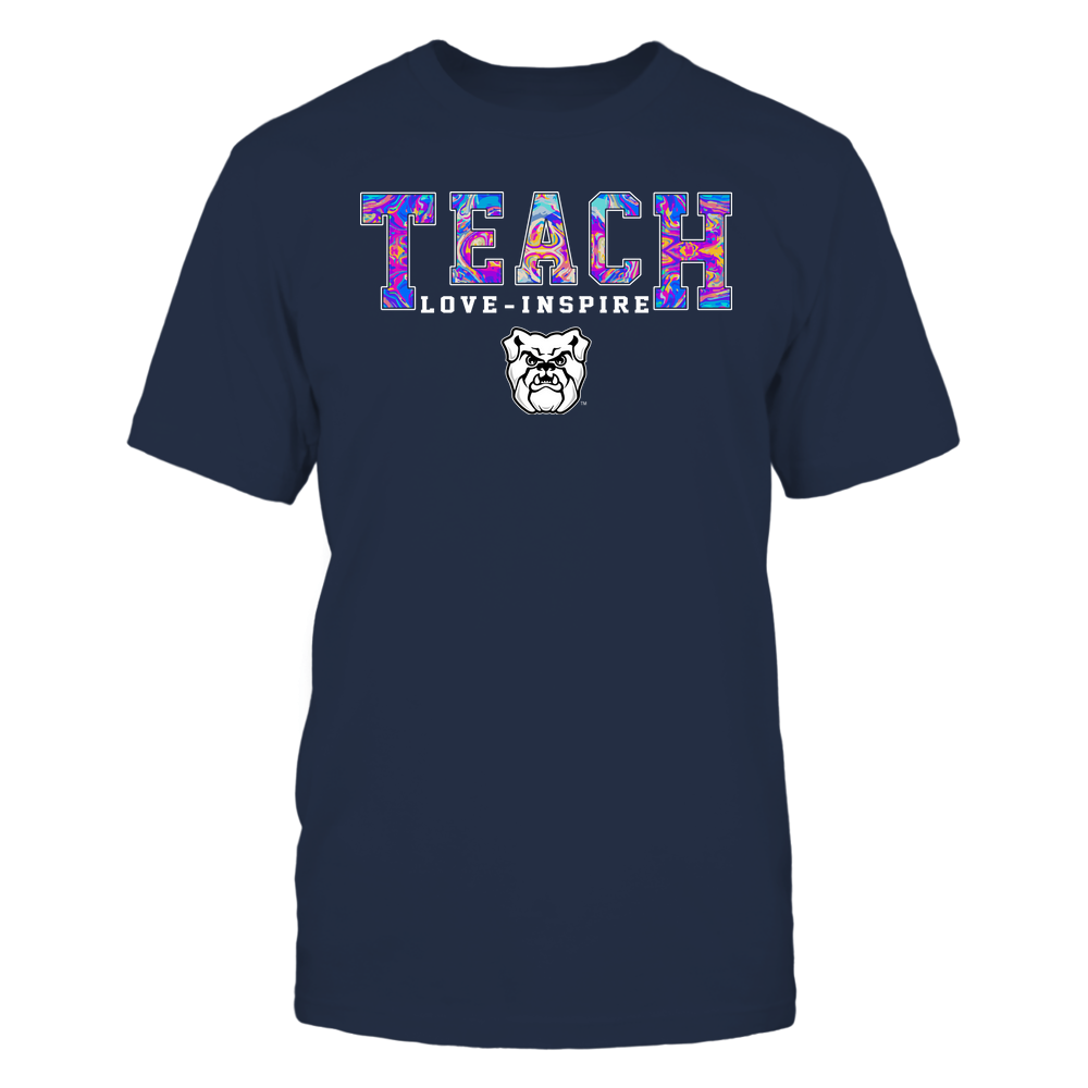 Butler Bulldogs - Teacher - Teach Love Inspire - Rainbow Swirl - Team Front picture