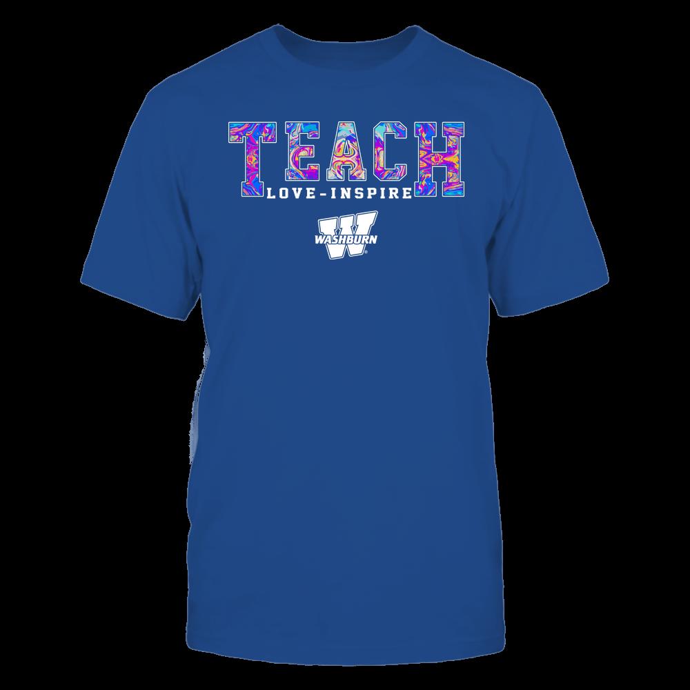 Washburn Ichabods - Teacher - Teach Love Inspire - Rainbow Swirl - Team Front picture