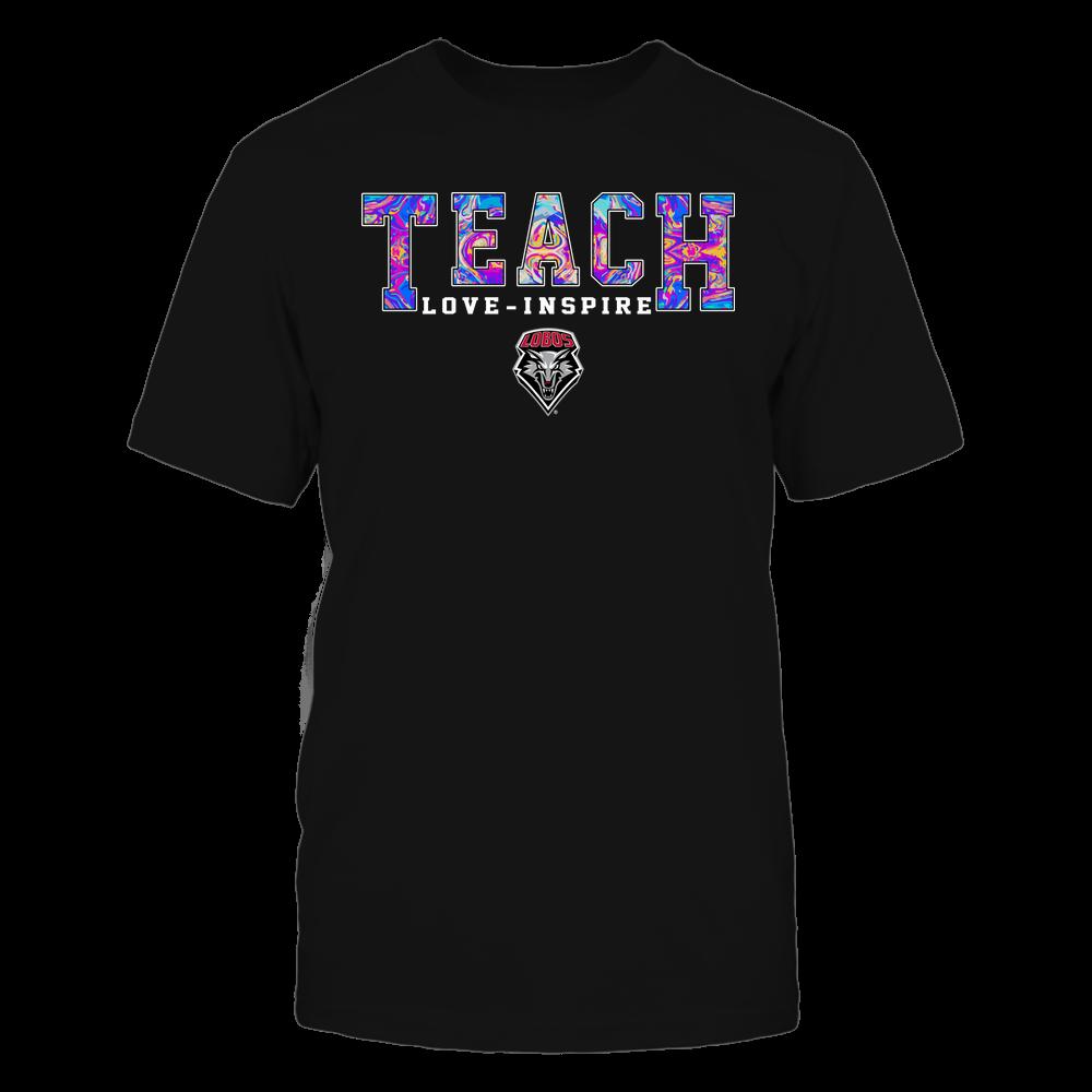 New Mexico Lobos - Teacher - Teach Love Inspire - Rainbow Swirl - Team Front picture