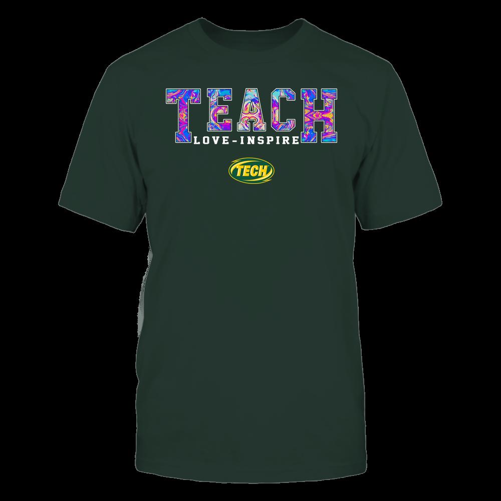Arkansas Tech Golden Suns - Teacher - Teach Love Inspire - Rainbow Swirl - Team Front picture