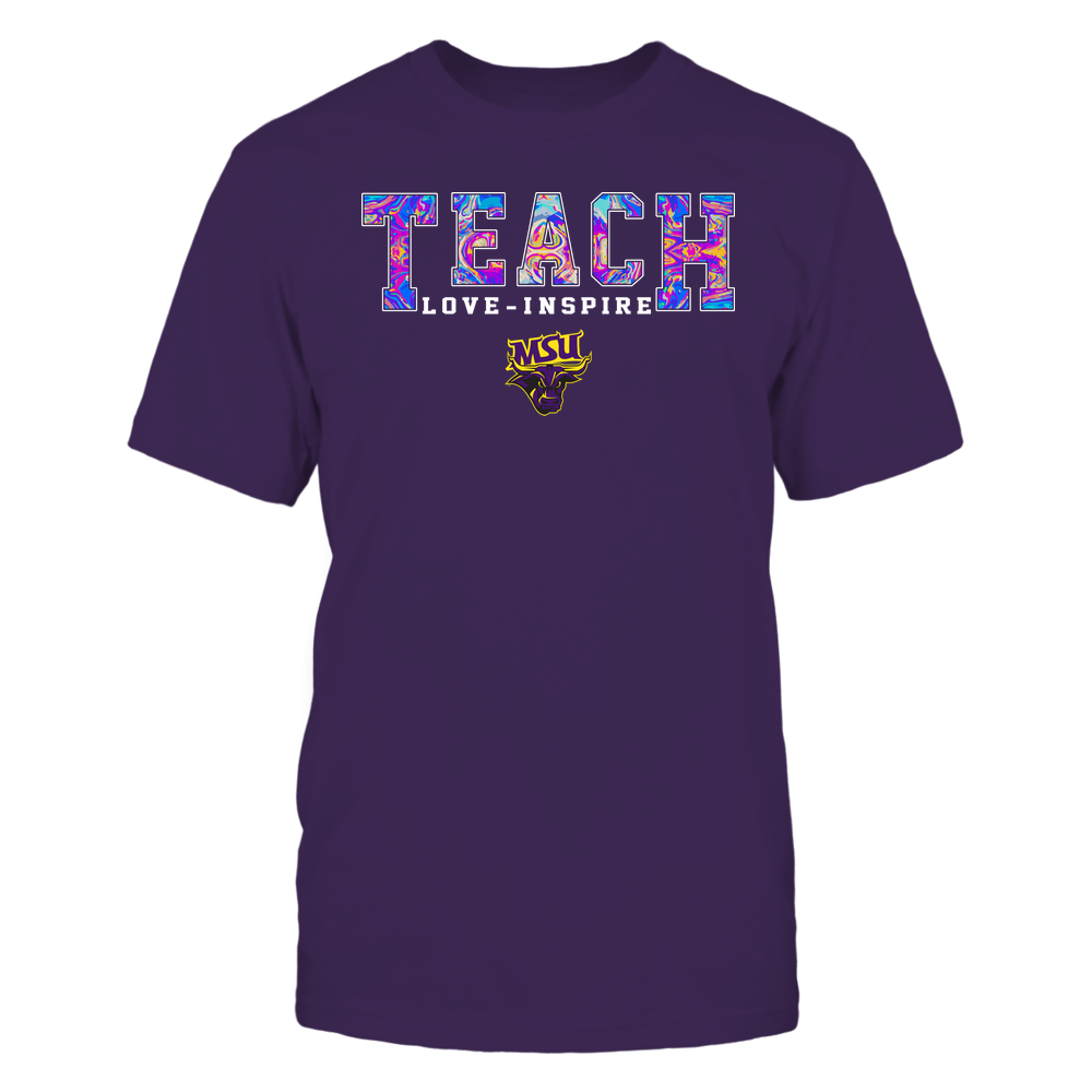 Minnesota State Mavericks - Teacher - Teach Love Inspire - Rainbow Swirl - Team Front picture