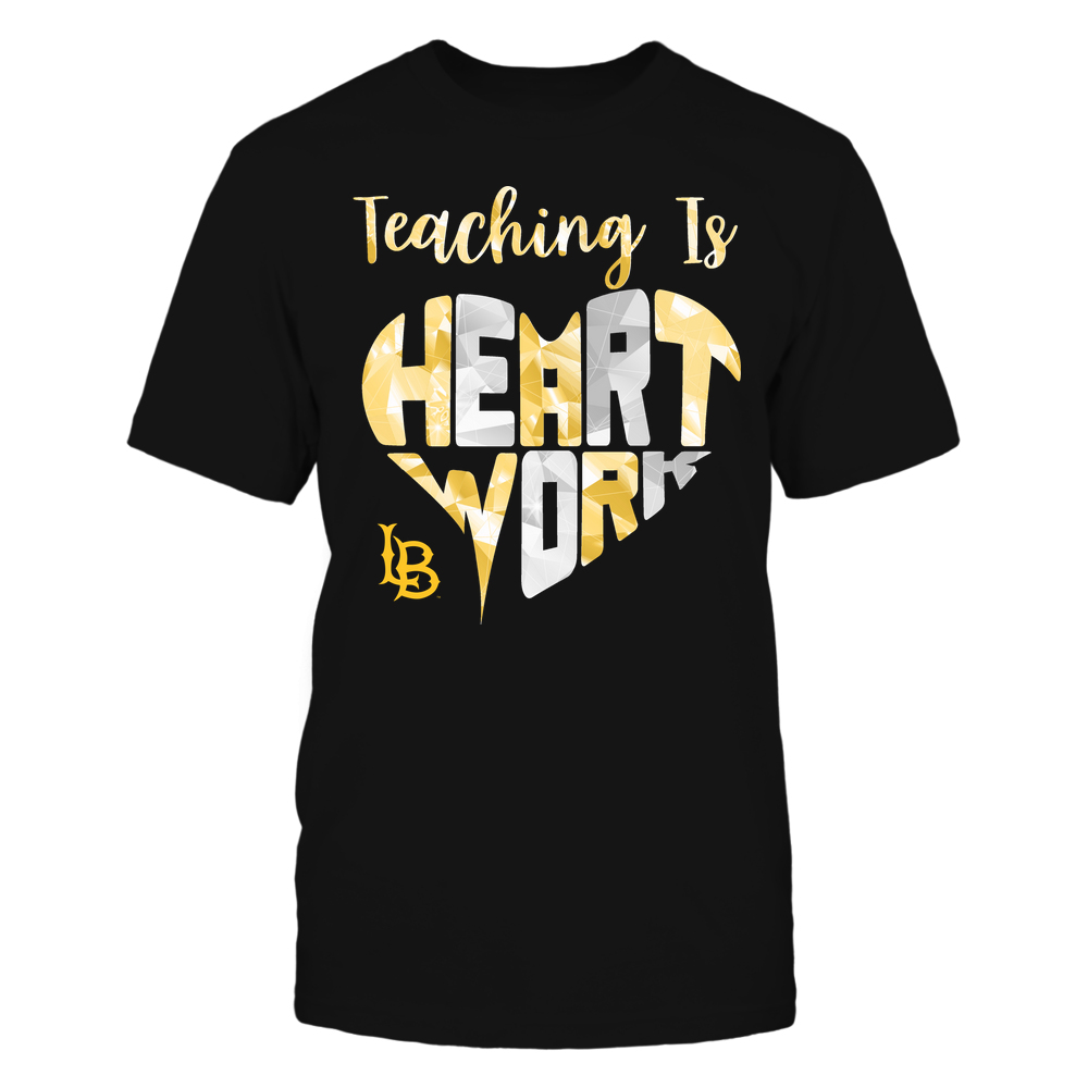 Long Beach State 49ers - Teaching Is Heart Work - Galaxy Pattern - Teacher Front picture