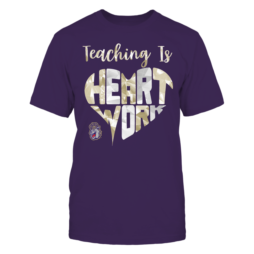 James Madison Dukes - Teaching Is Heart Work - Galaxy Pattern - Teacher Front picture