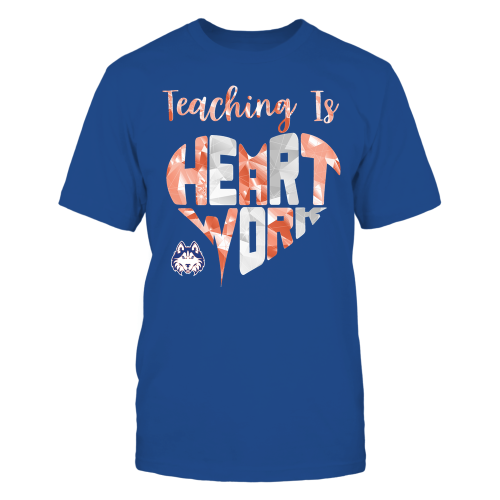 Houston Baptist Huskies - Teaching Is Heart Work - Galaxy Pattern - Teacher Front picture