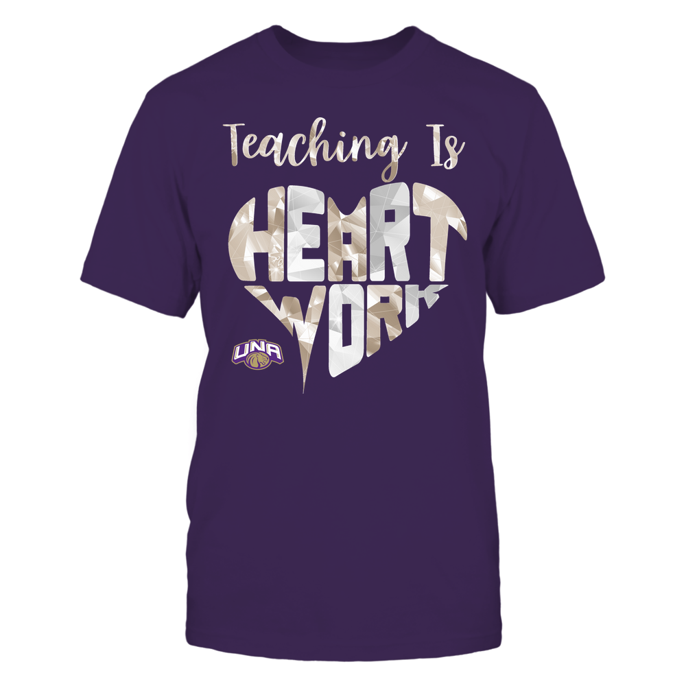 North Alabama Lions - Teaching Is Heart Work - Galaxy Pattern - Teacher Front picture