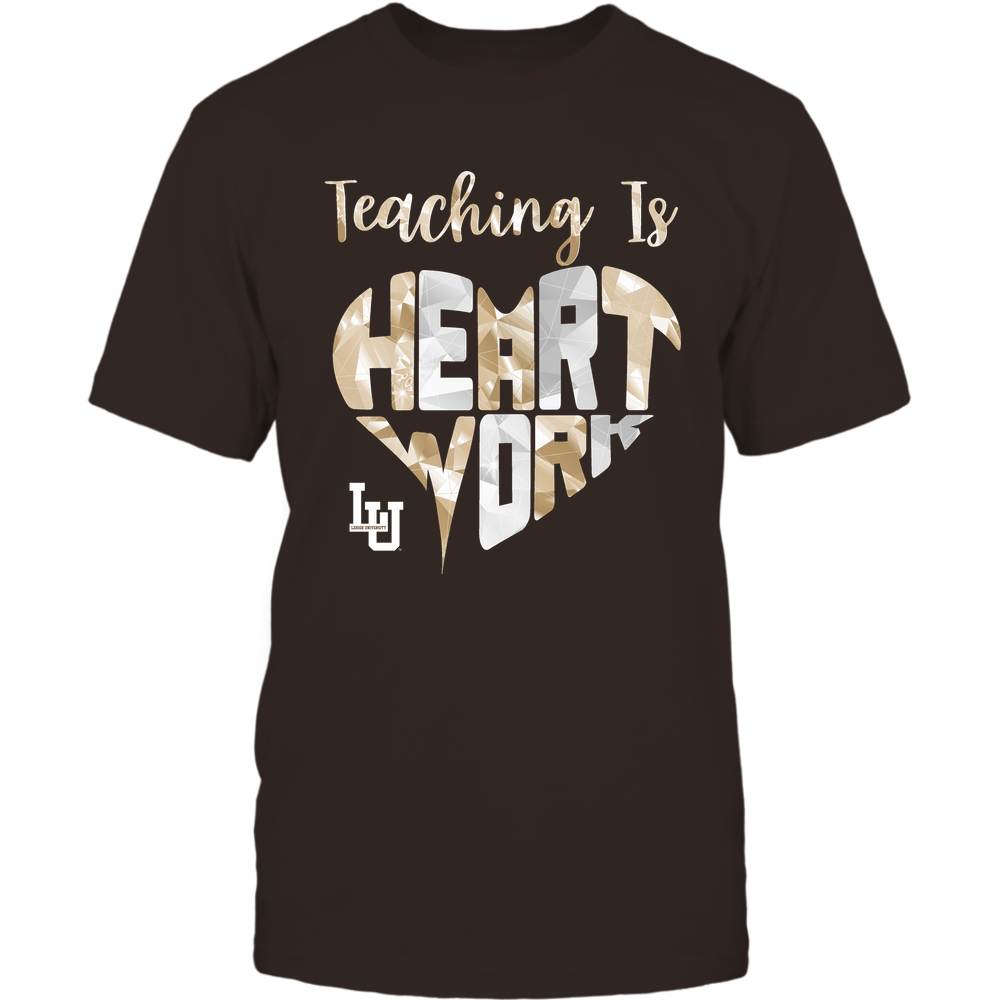 Lehigh Mountain Hawks - Teaching Is Heart Work - Galaxy Pattern - Teacher Front picture