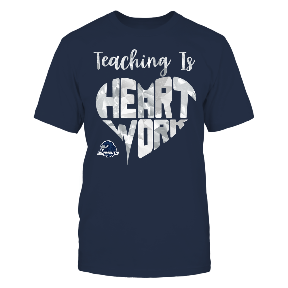 Monmouth Hawks - Teaching Is Heart Work - Galaxy Pattern - Teacher Front picture