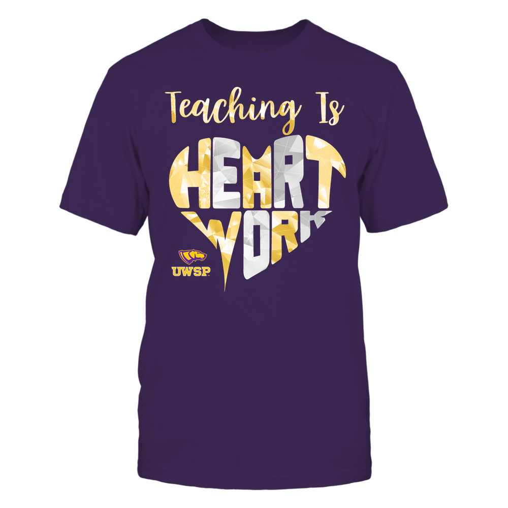 Wisconsin-Stevens Point Pointers - Teaching Is Heart Work - Galaxy Pattern - Teacher Front picture