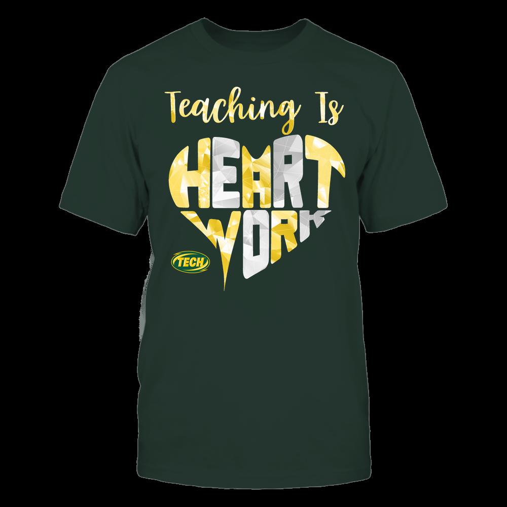 Arkansas Tech Golden Suns - Teaching Is Heart Work - Galaxy Pattern - Teacher Front picture