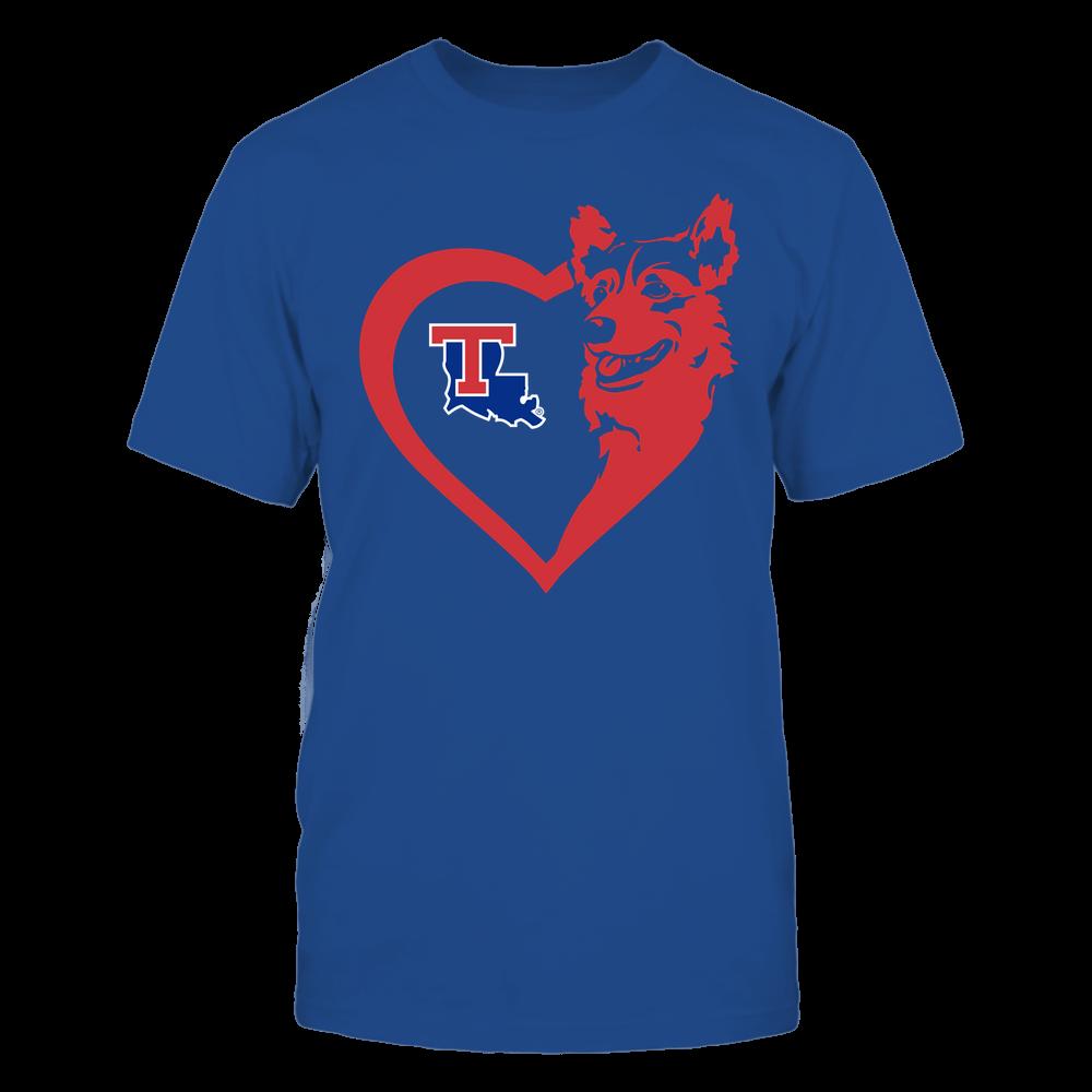 Louisiana Tech Bulldogs - Dogs - Corgi Heart - Team Front picture