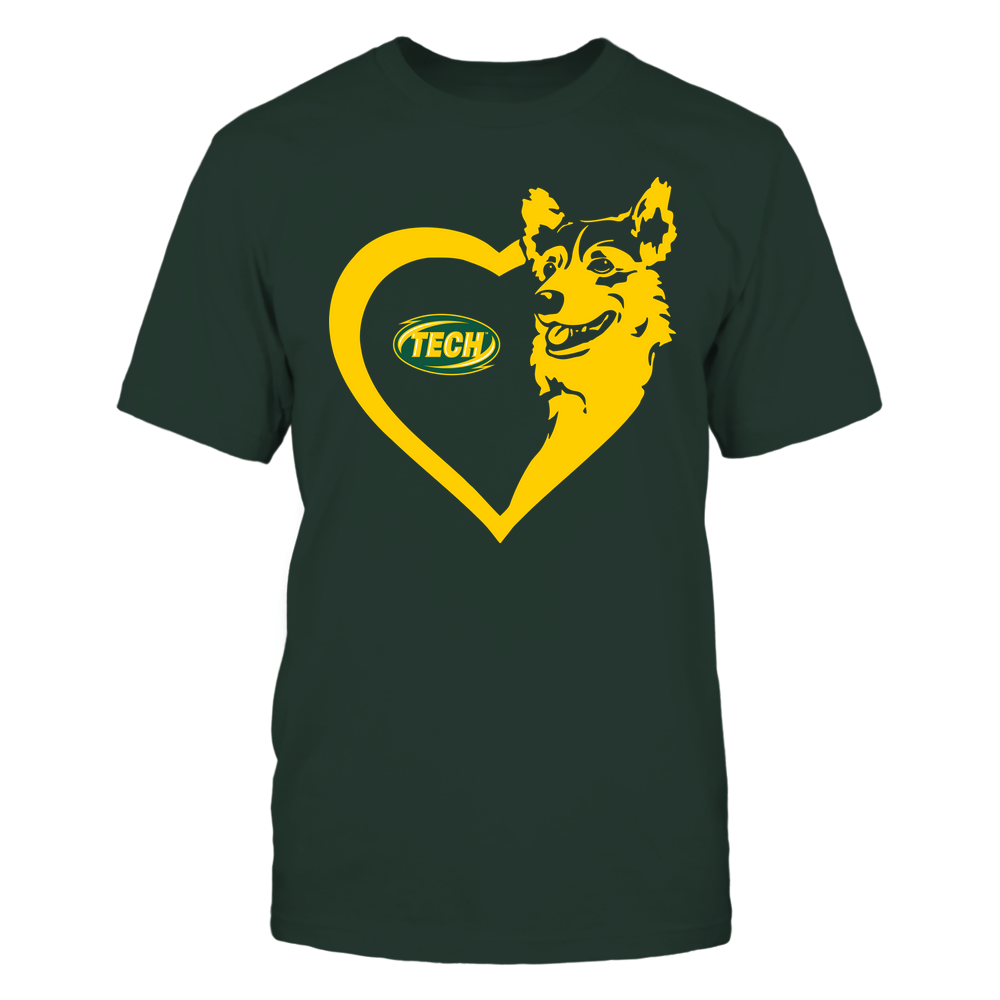 Arkansas Tech Golden Suns - Dogs - Corgi Heart - Team Front picture
