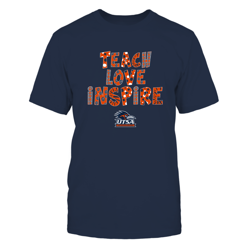 UTSA Roadrunners - 19101410262 - Teacher - Teach Love Inspire - Doodle Pattern - APCX - IF13-IC13-DS27 Front picture