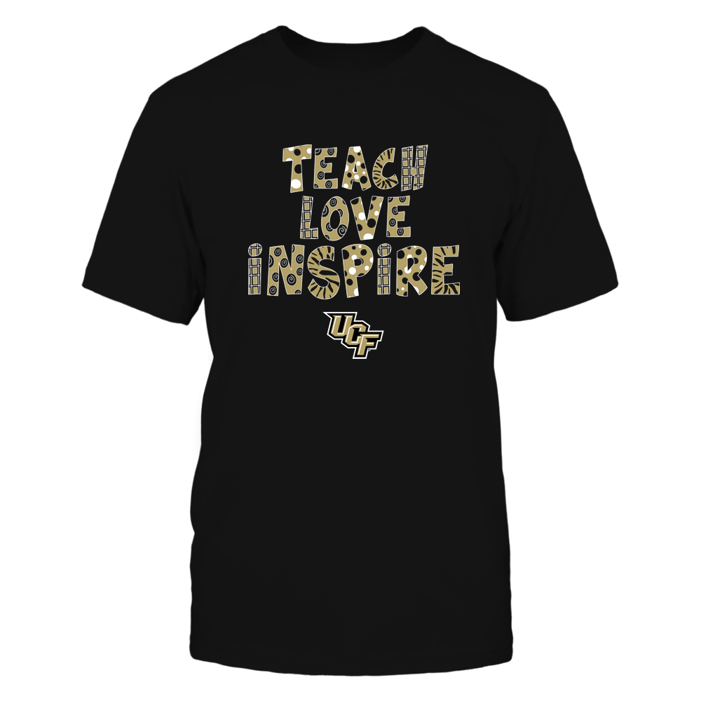 UCF Knights - 19101410262 - Teacher - Teach Love Inspire - Doodle Pattern - APCX - IF13-IC13-DS27 Front picture
