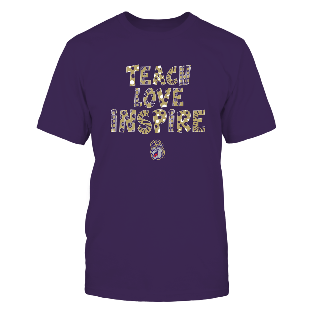 James Madison Dukes - 19101410262 - Teacher - Teach Love Inspire - Doodle Pattern - APCX - IF13-IC13-DS27 Front picture