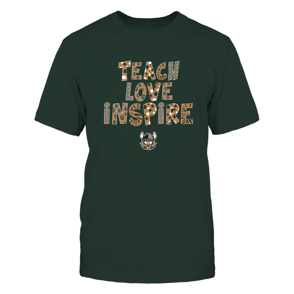 Cleveland State Vikings - 19101410262 - Teacher - Teach Love Inspire - Doodle Pattern - APCX - IF13-IC13-DS27 Front picture