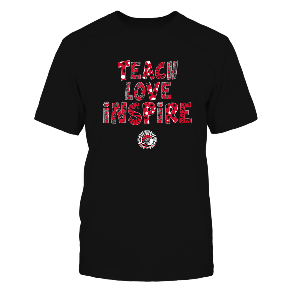 Tampa Spartans - 19101410262 - Teacher - Teach Love Inspire - Doodle Pattern - APCX - IF13-IC13-DS27 Front picture