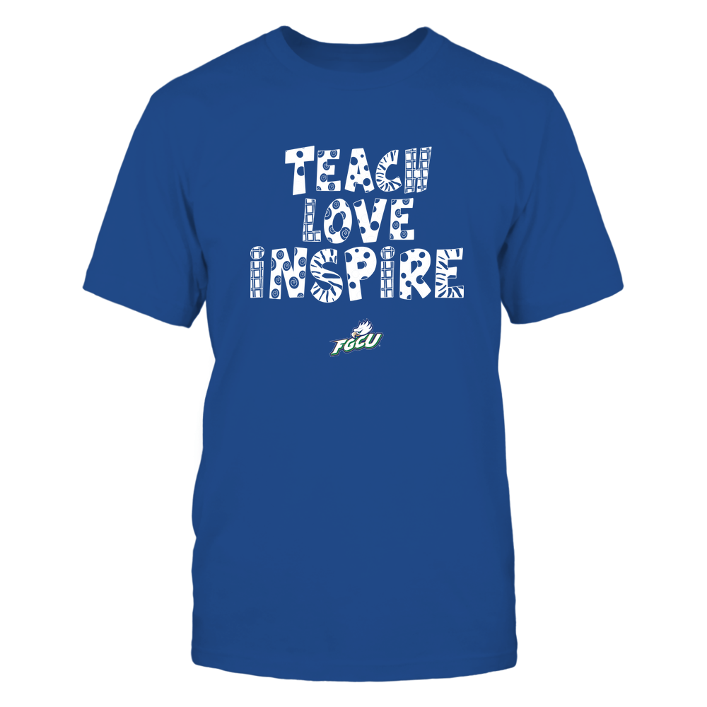 Florida Gulf Coast Eagles - 19101410262 - Teacher - Teach Love Inspire - Doodle Pattern - APCX - IF13-IC13-DS27 Front picture