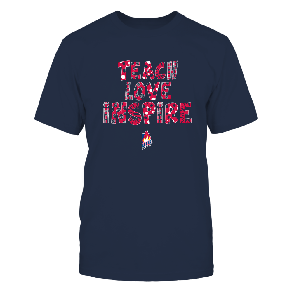 UIC Flames - 19101410262 - Teacher - Teach Love Inspire - Doodle Pattern - APCX - IF13-IC13-DS27 Front picture