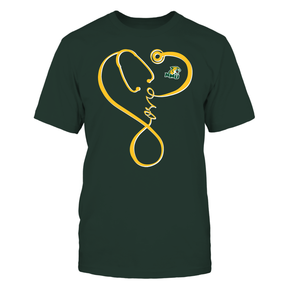 Northern Michigan Wildcats - Nurse - Infinity Love Stethoscope - Team Front picture