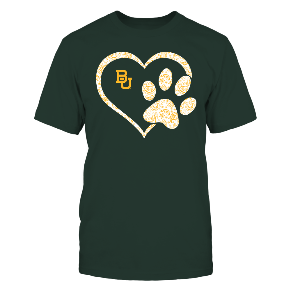 Baylor Bears - Heart Paw Patterned - Team Front picture