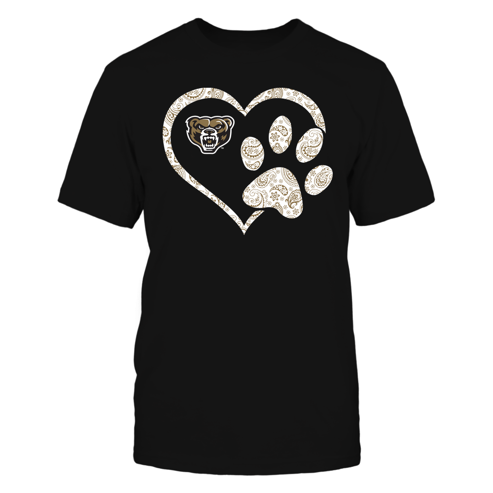 Oakland Golden Grizzlies - Heart Paw Patterned - Team Front picture